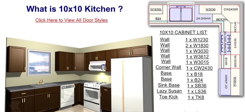 10x10 Kitchens 1 499 00